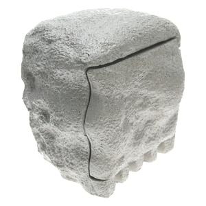 4 fach Stein Gartensteckdose mit Deckel freigestellt