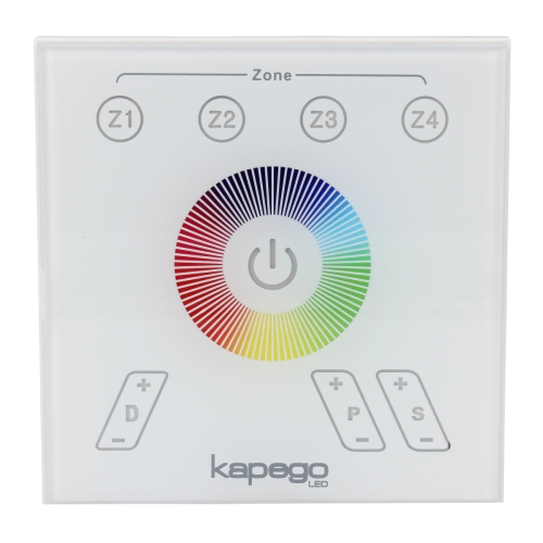 Kapego RGB Funk touch Wand-Panel Bedienfeld RF Color