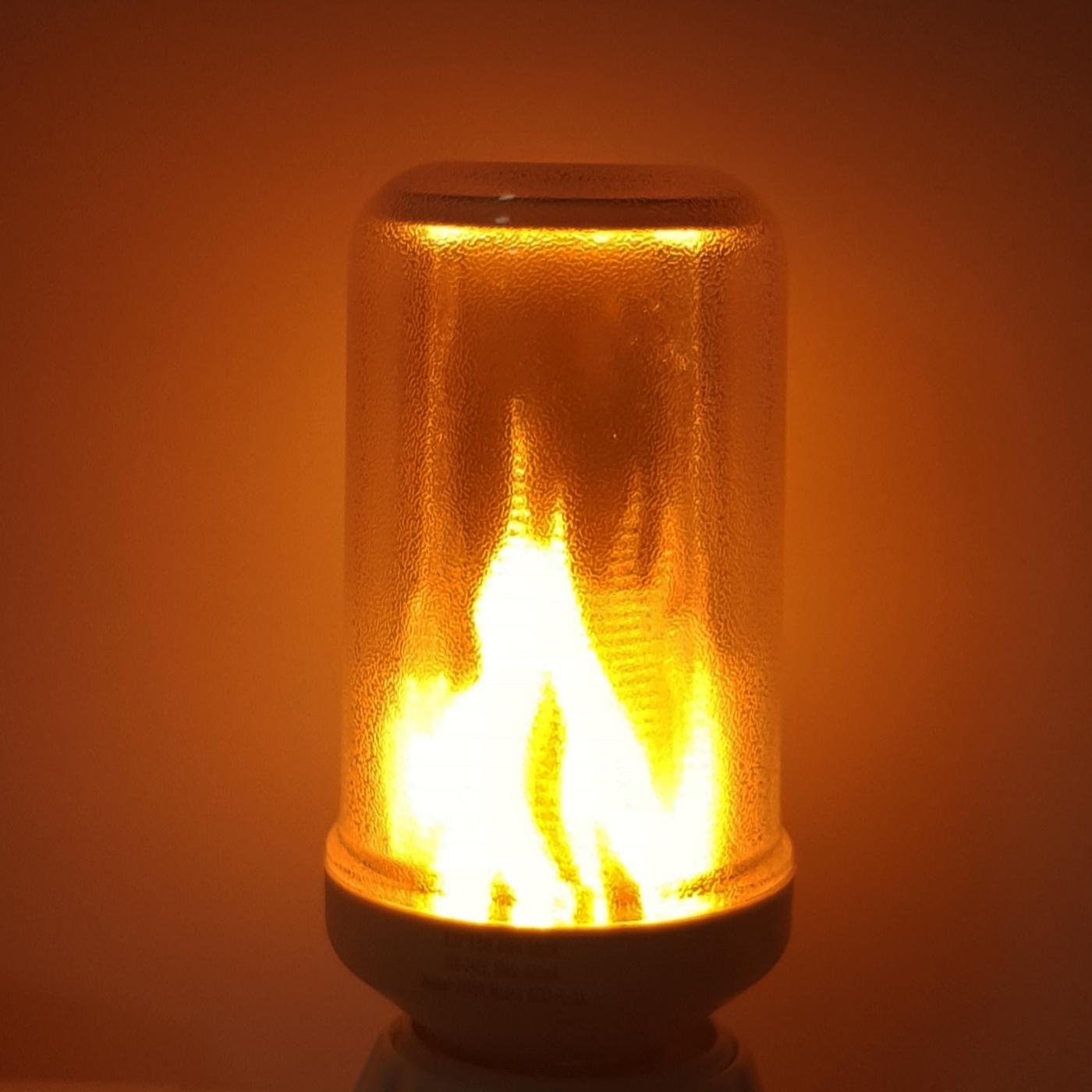 LED Flammlicht Fire-Flame-Lamp E27 230V 3W flackernd Flammen-Feuer-Effekt Fackel