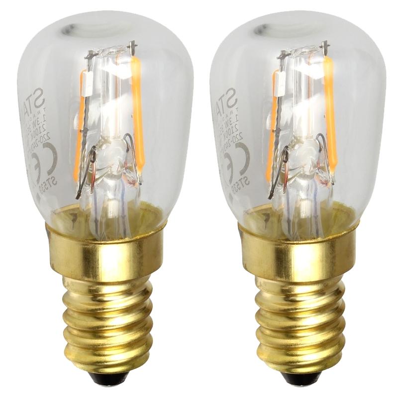 2er Pack mini Led Leuchtmittel E14 Soft Glow extra warmweiß 90lm ...