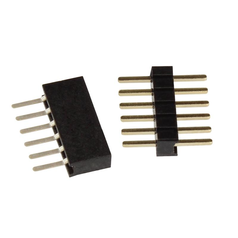 H0 Steckverbinder Mini-Steckerset 6-polig mit Litze Farbkodierung ideal für N