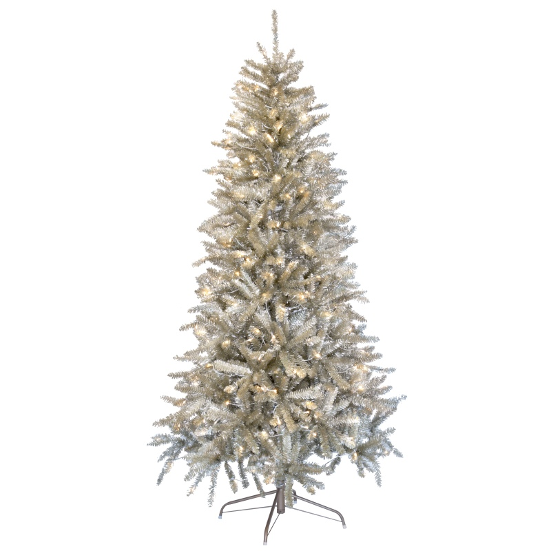 Künstlicher Weihnachtsbaum Für Den Außenbereich.Champagner Farbener Led Weihnachtsbaum 195cm 300 Warmweißen Leds Innen Außen Christbaum