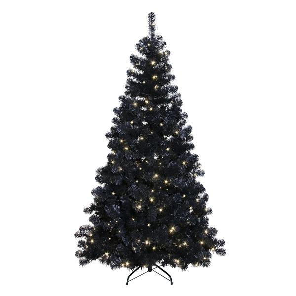Weihnachtsbaum Künstlich Aussen.Schwarzer Led Weihnachtsbaum 210cm 260 Dayligh Weißen Leds Innen Außen Künstlicher Christbaum