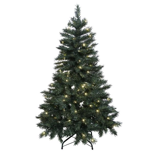 Künstlicher Weihnachtsbaum Außen.Led Weihnachtsbaum 150cm 110 Warmweißen Leds Für Innen Und Außen Künstlicher Christbaum