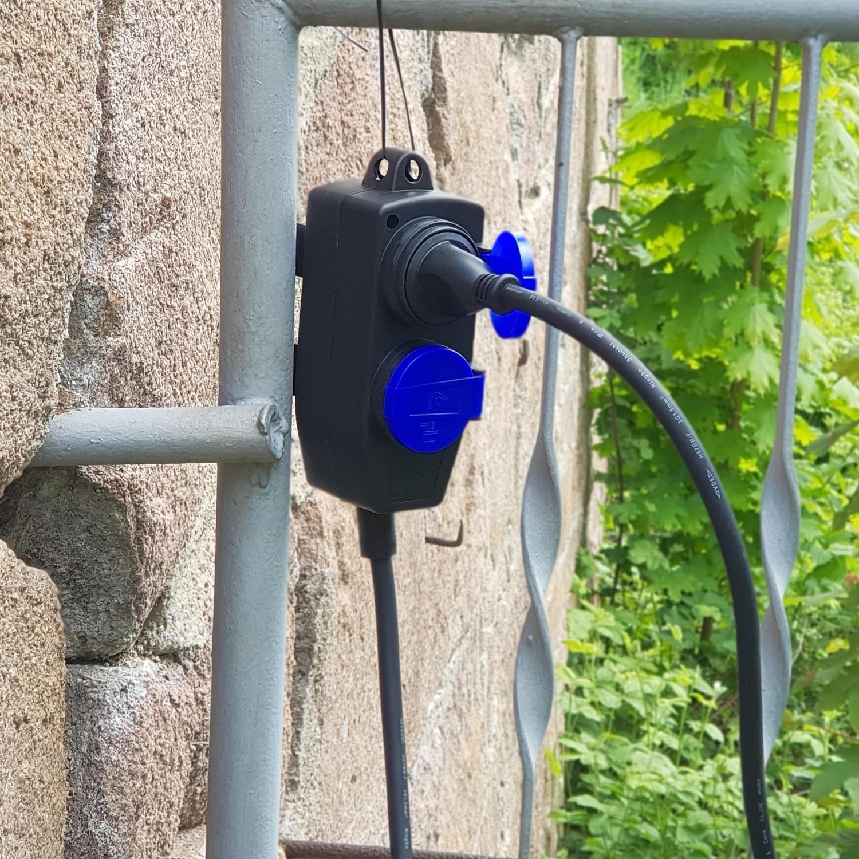 5 / 10 Meter 4-fach Verteiler-Verlängerungs-Kabel für ...